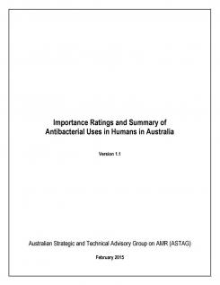 Importance Ratings and Summary of Antibacterial Uses in Humans in Australia